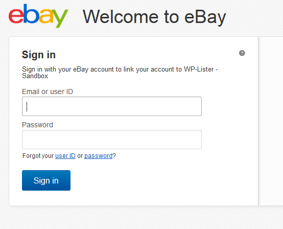 sign in ebay