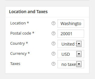 location and taxes
