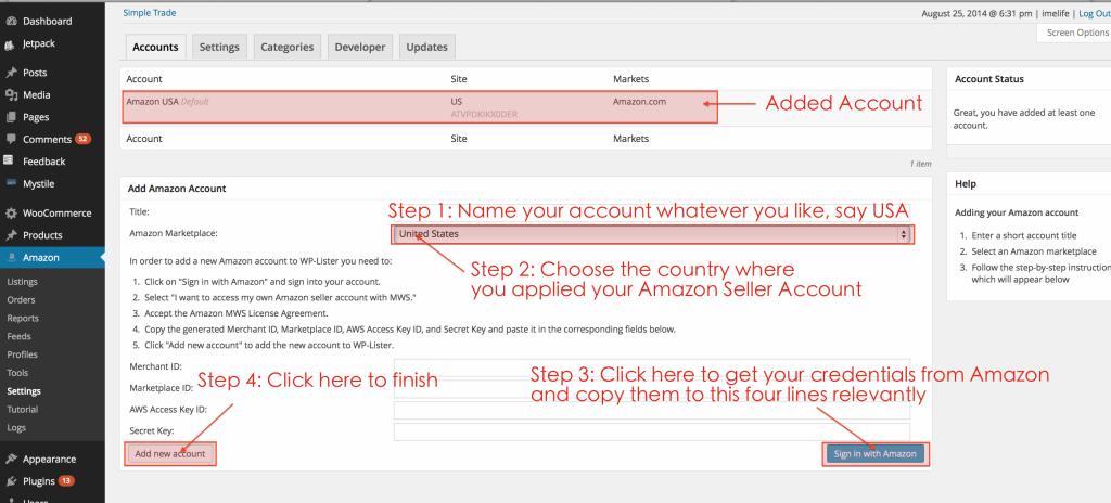 Set up your Amazon account
