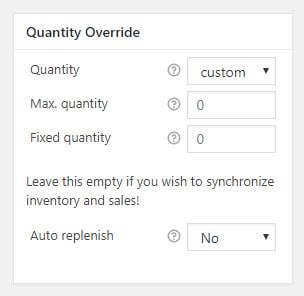 Quantity Override